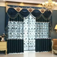 Blue Valance Curtains Online Get Cheap Blue Valance Aliexpress Com Alibaba Group