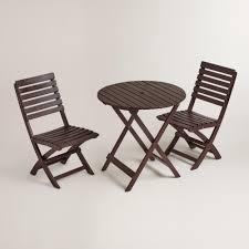 Folding Wicker Chairs Espresso Wood Mika Folding Chairs Set Of 2 World Market