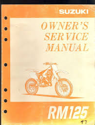 1997 suzuki rm125 motorcycle owner s service manual u2022 29 99