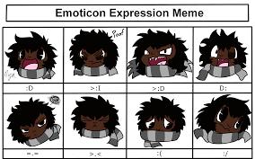 Emoticon Memes - shibi emoticon expression meme by shibitheshadowhound on deviantart