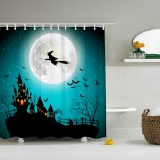 vintage halloween shower curtain waterproof fabric polyester 60