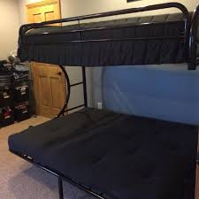 find more black metal futon bunk bed twin on top full on bottom