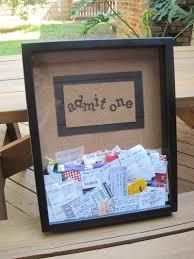 graduation memory box ticket stub memory box this picmia