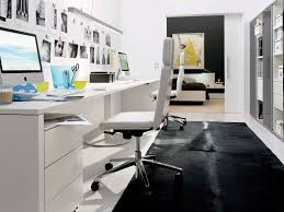 office beauty home office design with black plain carpet and