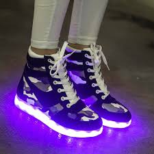 high top light up shoes casual camouflage high top shoes led for adults color glow light up