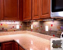 red subway tile backsplash stunning decoration interior home