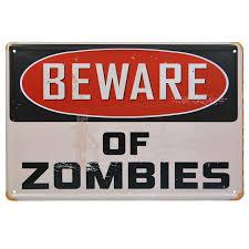zombie bathroom sign
