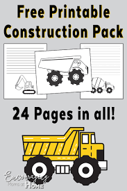free road construction printable handwriting notebooking and