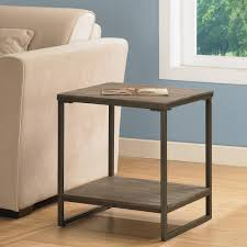 elements brown grey end table with shelf by i love living