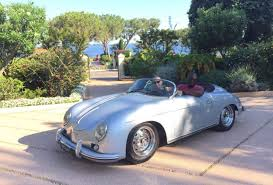 vintage porsche convertible driving the legendary porsche 356 speedster along the french riviera