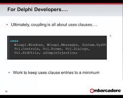 delphi mvvm tutorial dependency injection and the delphi spring framework youtube