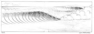 wilbur draw a cartoon wave