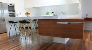 designer kitchen with island bench u0026 mirror bar back kitchens by
