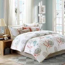 Bed In A Bag King Comforter Sets Coral Seashells Starfish Beach Cal King Comforter Set Ko 8