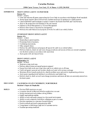 front desk agent duties front office agent resume sles velvet jobs