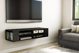 storage tv floating media console wood wall mounted storage