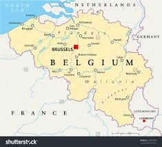 Europe Capitals Map by Belgium Political Map With Capital Brussels National Borders Most