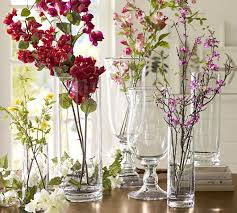 Decorate A Vase Voluminous Clear Glass Vases Pottery Barn