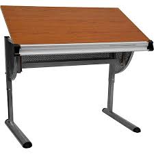 Walmart Drafting Table Adjustable Drawing And Drafting Table With Pewter Frame Walmart