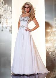 occasional dresses for weddings beautiful white applique and beadings modest prom dresses with