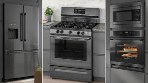 gray kitchen cabinets with black stainless steel appliances kitchens appliances upgrade your kitchen ikea