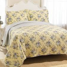 Bedroom With Yellow Walls And Blue Comforter Bedroom Laura Ashley Bedding In Yellow And Floral Pattern With