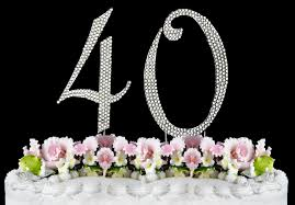 s cake topper rhinestone cake topper number 40 by other kitchen