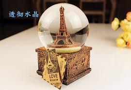Eiffel Tower Garden Decor Turn The Eiffel Tower Crystal Ball Christmas Music Box