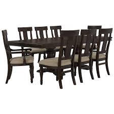City Furniture Dining Room Sets City Furniture Sterling Dark Tone Trestle Table U0026 4 Wood Chairs