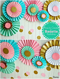 paper decorations how to make paper rosettes birthday backdrop darice party