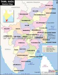 tamil nadu map nadu districts