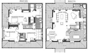 home design modern 2 story house floor plans transitional hahnow