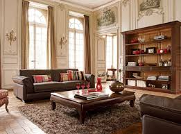 Plush Leather Sofas by Magnificent Brown Living Room Furniture Using Square Antique