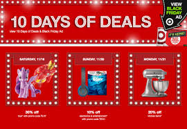 target black friday buster target u0027s black friday 2016 10 days of deals special what u0027s good