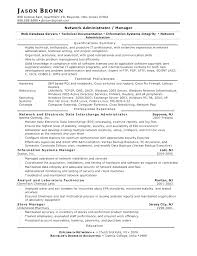 computer networking resume system administrator resume format