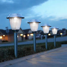 Solar Lights For Driveway by Outdoor Solar Lights Glass Lens Copper Finish Pathway Garden Path