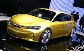 lexus yellow lexus lf ch concept auto shows news car and driver