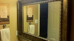 Vanity Framed Mirrors Free Bathroom Custom Framed Mirrors Hall Of Frames Regarding