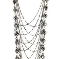 long necklace chains images Inaya long necklace with crisscross chains and balls with jpg