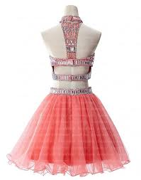 2 piece homecoming dresses coral homecoming dresses cute