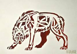 tribal celtic wolf by edeneue on deviantart canis lupus