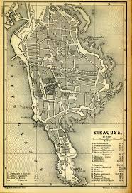 Syracuse University Map A Map Of Archimedes U0027 Birthplace And Home Syracuse The Legend