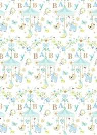 baby boy wrapping paper vintage wrapping paper or gift wrap with babies in baskets by