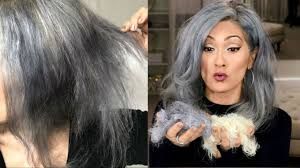 images of grey hair in transisition i bleached half of my hair off gray hair transition youtube
