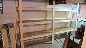 Wooden Garage Storage Cabinets Plans by Diy Basement Shelves In A Day Merrypad