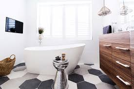 the blockheads us how to use feature tiles in a bathroom or