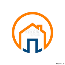 home logo icon circle home house logo icon stock image and royalty free vector