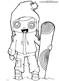 coloring pages about winter coloring pages for winter winter game snowboarding girl coloring