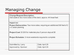 Project Project Management Change Request by Project Management From Planning To Action A Matter Of