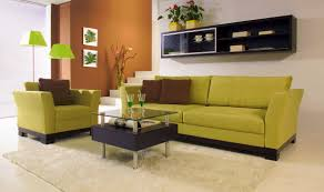Small Space Living Room Ideas Get Your Living Space A Nice Color Splash With Cool Green Sofa